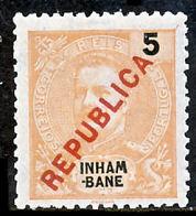 """!■■■■■ds■■ Inhambane 1917 AF#090* Local """"Republica"""" 5 Réis (x0924) - Inhambane"""