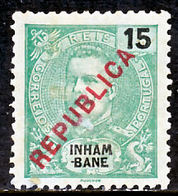 """!■■■■■ds■■ Inhambane 1917 AF#091* Local """"Republica"""" 15 Réis (x4786) - Inhambane"""