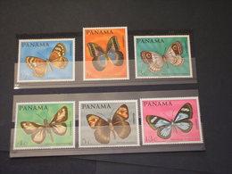 PANAMA - 1968 FARFALLE 6 VALORI - NUOVI(++) - Panama