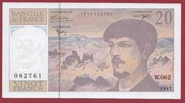"""20 Francs """"Debussy """" 1997---AU/UNC---ALPH-W.062 - 1962-1997 ''Francs''"""