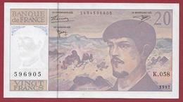 """20 Francs """"Debussy """" 1997---AU/UNC---ALPH-K.058 - 1962-1997 ''Francs''"""