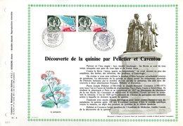 """1300 Ex. """" DECOUVERTE DE LA QUININE PAR PELLETIER ET CAVENTOU """" Sur PAC 1er Jour De 1970. N°YT 1633 FDC - Pharmacy"""