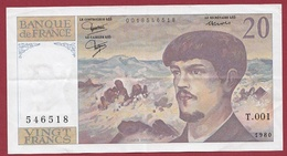 "20 Francs ""Debussy "" 1980---VF/SUP---ALPH-T001. - 1962-1997 ''Francs''"