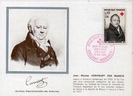 Carte Maximum - Premier Jour 1964 - Corvisard - DRICOURT (Ardennes)   (115199) - Maximum Cards