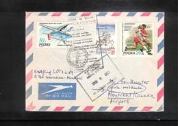 Poland / Polska 1989 Lot Erstflug Warschau - Montreal - 1944-.... Republik