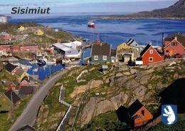 1 AK Grönland Greenland * Blick Auf Die Stadt Sisimiut - Die Zweitgrößte Stadt Grönlands * - Grönland
