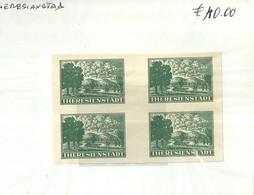 """5042"""" THERESIENSTADT-QUARTINA-GERMANIA III° REICH-BOEMIA E MORAVIA """" - 6. 1946-.. Repubblica"""