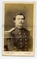 CDV Eugène Guérin Photographie, Rue Royale 142, Bruxelles. Portrait D'un Militaire. - Photos