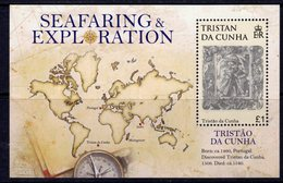 Tristan Da Cunha 2009 Seafaring & Exploration Map MS, MNH, SG 938 - Tristan Da Cunha
