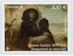 N° 5333** Gustave COURBET Autoportrait Au Chien Noir - Francia