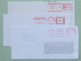 Agricoltura, Consorzio Agrario Provinciale Torino E Cuneo, 3 Affranc. Mecc. Diverse, 3 Tariffe Diverse, Ema, Meter - Machine Stamps (ATM)