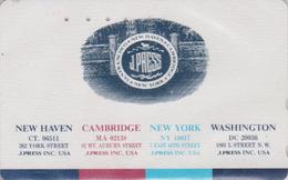 Télécarte Japon / 110-011 - PRESSE - J PRESS NEW YORK WASHINGTON USA CAMBRIDGE - Japan Phonecard - 08 - Japan