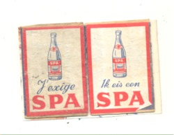 """Façade De Boîte D'allumettes - Lot De 2 ( Français Et Néerlandais ) """" SPA """"  B  (rmt) - Boites D'allumettes - Etiquettes"""