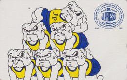 Télécarte Japon / 110-011 - PRESSE - J PRESS NEW YORK USA - CHIEN BOULEDOGUE - Animal BULLDOG DOG Japan Phonecard - 12 - Chiens