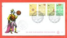 SPORT- CALCIO - CAMPIONATO DEL MONDO- 1970 - SURINAME - MARCOFILIA - Suriname