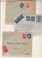 F Belgique    3 Enveloppes   Timbres = 10% - 1946 -10%