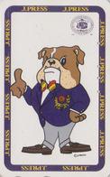 Télécarte Japon / 110-011 - PRESSE - J PRESS NEW YORK USA - CHIEN BOULEDOGUE - Animal BULLDOG DOG Japan Phonecard - 13 - Chiens