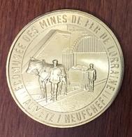 57 MOSELLE NEUFCHEF N°4 MINES DE FER DE LORRAINE MÉDAILLE TOURISTIQUE MONNAIE DE PARIS 2019 JETON MEDALS TOKENS COINS - 2019