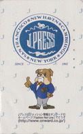 Télécarte Japon / 110-016 - PRESSE - J PRESS NEW YORK USA - CHIEN BOULEDOGUE - Animal BULLDOG DOG Japan Phonecard - 14 - Chiens