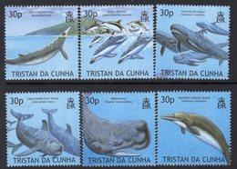Tristan Da Cunha 2002 Marine Mammals Set Of 6, MNH, SG 752/7 - Tristan Da Cunha