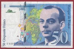 "50 Francs ""St Exupéry"" 1994---F/TTB+----n°U 020342664 - 1992-2000 Dernière Gamme"