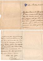 Lettre écrite A LE NOUVION Par Isabelle De France A Mr Raisaguet (Blason : Lys)  (115210) - Historical Documents