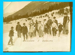 Chamonix * Traversée Glacier Des Bossons * Photo 8 X 11cm Vers 1900 - Places