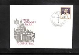 Germany / Deutschland DDR 1990 John Paul II FDC - Päpste