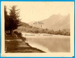 Chamonix * Lac Des Gaillands * Photo 8 X 11cm Vers 1910 - Places
