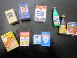 Vintage Mini Petites Boites Alimentaire Publicitaires Publicité Allemagne-France-Jouer à La Dinette Avec Vos Enfants Ou - Boîtes