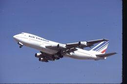 AIR FRANCE  B 747   F-BPVK  /    DIAPOSITIVE KODAK ORIGINAL - Diapositives