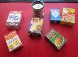 Vintage Mini Petites Boites Alimentaire Publicitaires Publicité Allemagne-France-Jouer à La Dinette Avec Vos Enfants Ou - Scatole
