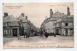 - CPA ÉPERNAY (51) - La Place De La République Et La Rue De Châlons 1903 (belle Animation) - Photo Choque N° 40 - - Epernay