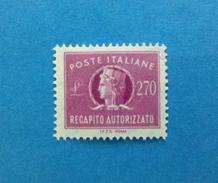 1984 ITALIA FRANCOBOLLO NUOVO STAMP NEW MNH** - RECAPITO AUTORIZZATO DA 270 LIRE - - 1946-.. Republiek