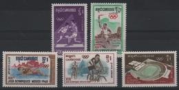 CGE 31 - CAMBODGE N° 208/12 Neufs** Jeux Olympiques De Moscou - Kambodscha