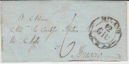 USED LETTER 12/06/1845 MILANO BRESCIA GRIFFES - 1. ...-1850 Prephilately