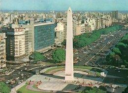 BUENOS AIRES-OBELISCO V PLAZA DE LA REPUBLICA- VIAGGIATA     FG - Argentina