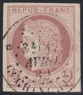 N° 15 Oblit. COCHINCHINE - Signé ROUMET - Voir Verso & DESCRIPTIF - Cérès