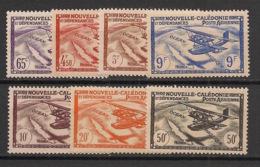 Nouvelle Calédonie - 1942-43 - Poste Aérienne PA N°Yv. 39 à 45 - Série Complète - Neuf Luxe ** / MNH / Postfrisch - Luftpost