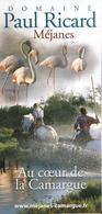 Dépliant Touristique °° Domaine Paul Ricard à Méjanes (13) - Dépli.6volets 10x21 - Toeristische Brochures