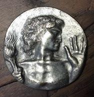 SPORT OLIMPIADI  COMITATO OLIMPICO NAZIONALE ITALIANO  MEDAGLIA DI GRECO   Diametrio 3,7 - Apparel, Souvenirs & Other