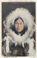 'Obleka' Eskimo Alaska Native Indian In Parkie Parka Fur Coat C1910s/20s Vintage Postcard - Indios De América Del Norte