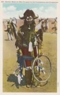 Native Plains Indian Buffalo Medicine Man Shaman Traditional Fashion C1920s/30s Vintage Postcard - Indiani Dell'America Del Nord