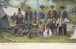 Seminole Indians Native Americans Outside Miami Floridia Fashion C1900s/10s Vintage Postcard - Native Americans