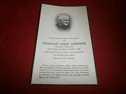 Vieux Papiers > Faire-part > Décès Monsieur L'abbé Lhomme Curé Doyen De Gace De 1895 à 1941 - Todesanzeige