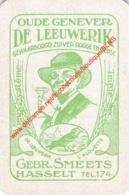 GEBR. SMEETS - DE LEEUWERIK - Oude Genever - Hasselt - 1 Speelkaart - 1 Carte à Jouer - 1 Playing Card. - Cartes à Jouer Classiques