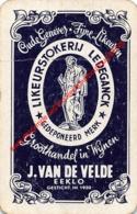 Likeurstokerij Ledeganck - J. Van DE Velde Eekloo - Oude Genever Fijne Likeuren - 1 Speelkaart - 1 Carte à Jouer - 1 Pla - Cartes à Jouer Classiques