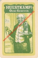 Hulstkamp's Oude Genever Jenever - 1 Speelkaart - 1 Carte à Jouer - 1 Playing Card. - Cartes à Jouer Classiques