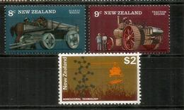 Matériel Agricole Ancien & Nouvelle Technologie Agricole.  3 Timbres Neufs **, Avec Haute Faciale., De Nouvelle-Zélande - Landwirtschaft