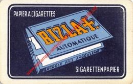 RIZLA Sigarettenpapier Papier A Cigarettes - Lacroix Fils Angouleme - 1 Joker Kaart/carte/card - Cartes à Jouer Classiques